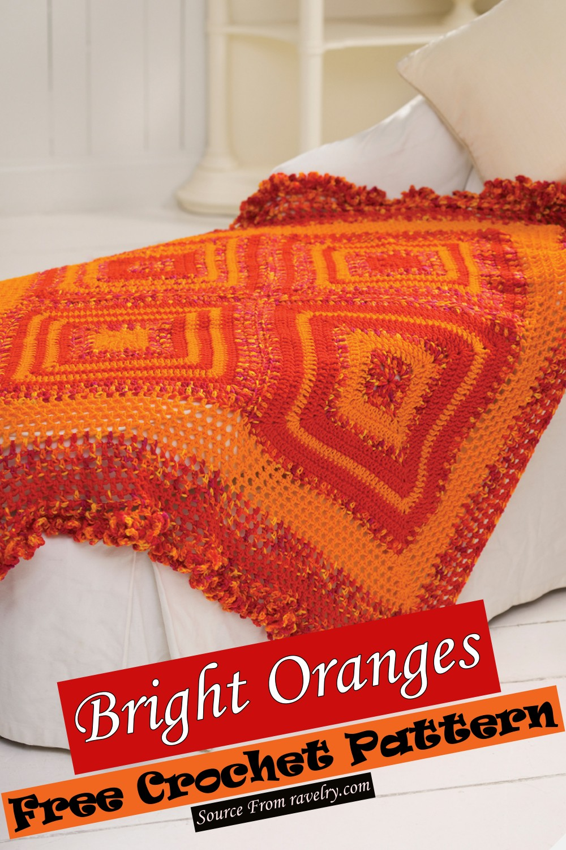 Free Crochet Bright Oranges Pattern