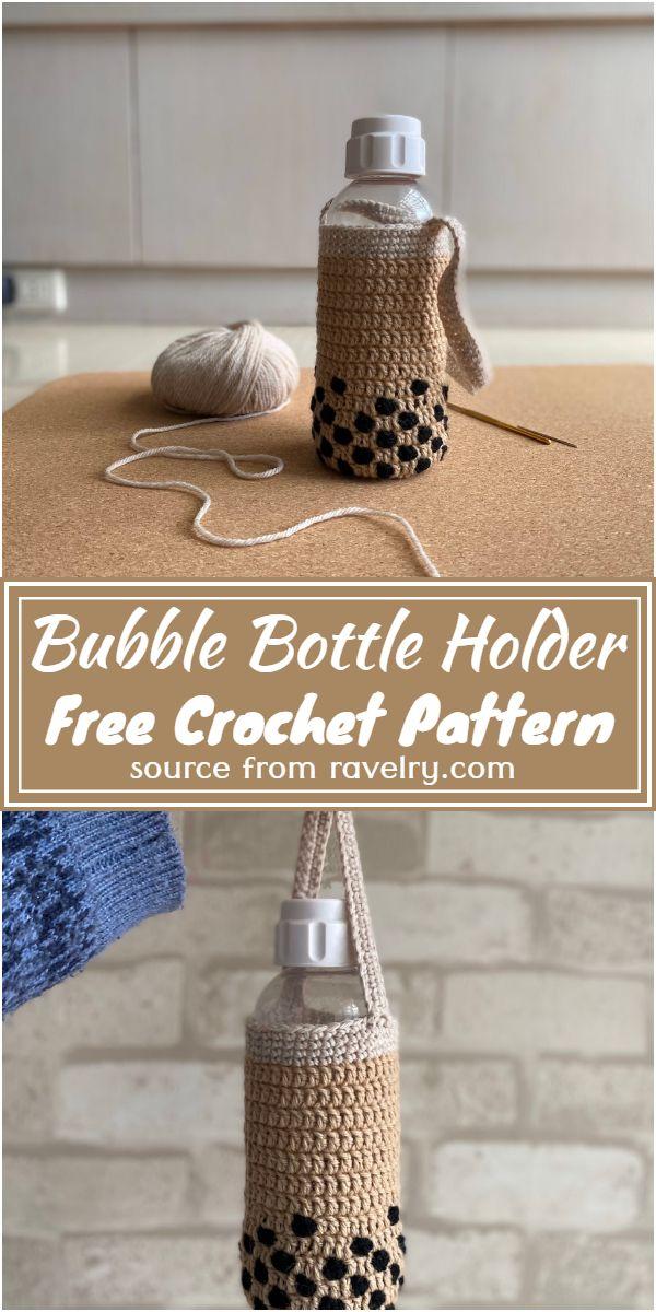 Free Crochet Bubble Bottle Holder Pattern