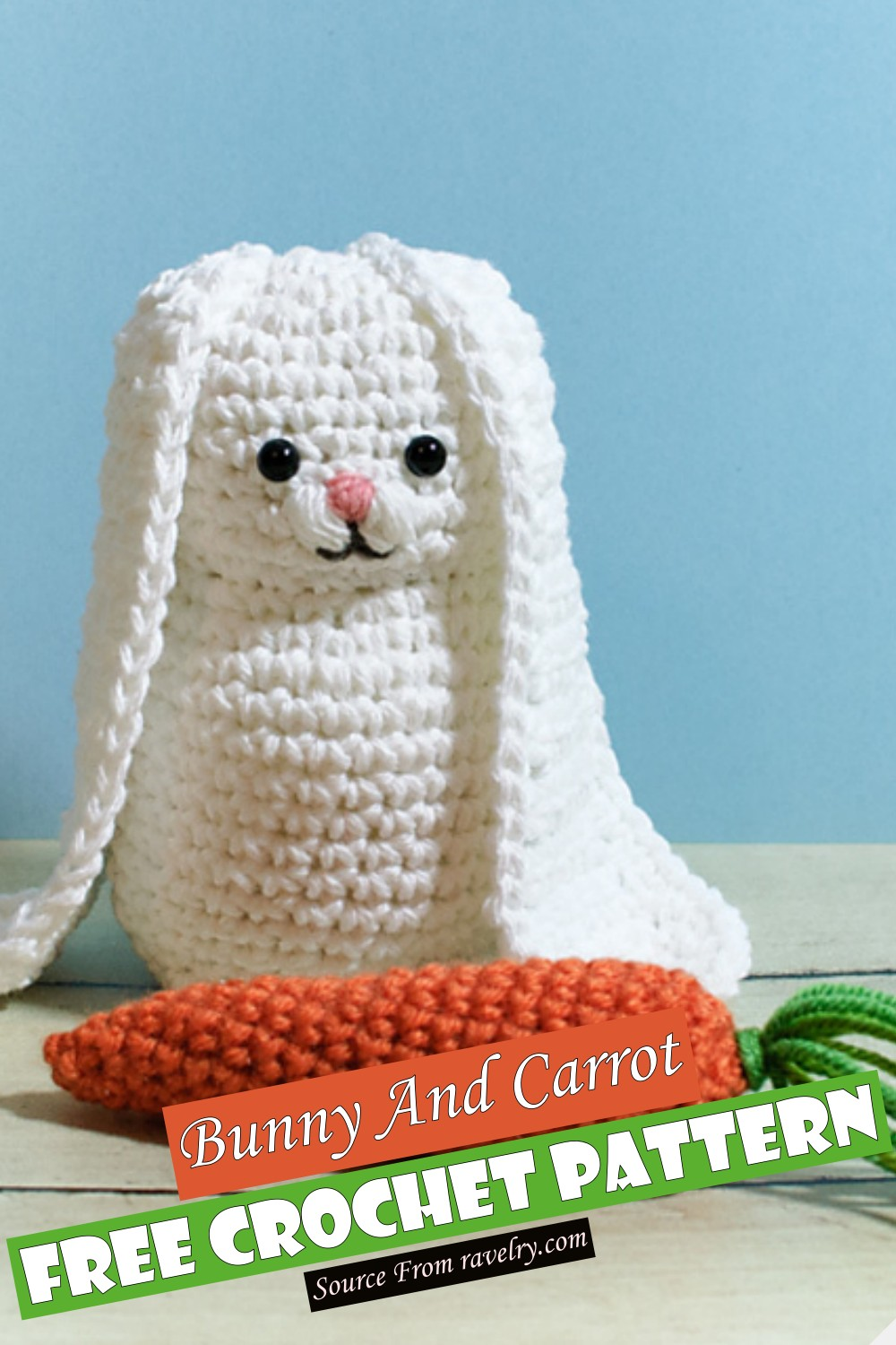 Free Crochet Bunny And Carrot Pattern