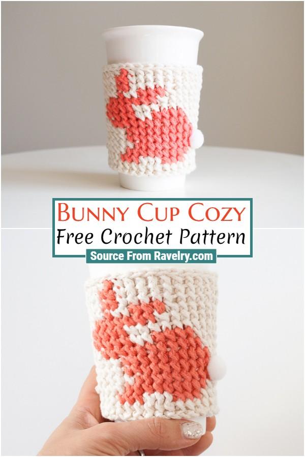 Free Crochet Bunny Cup Cozy