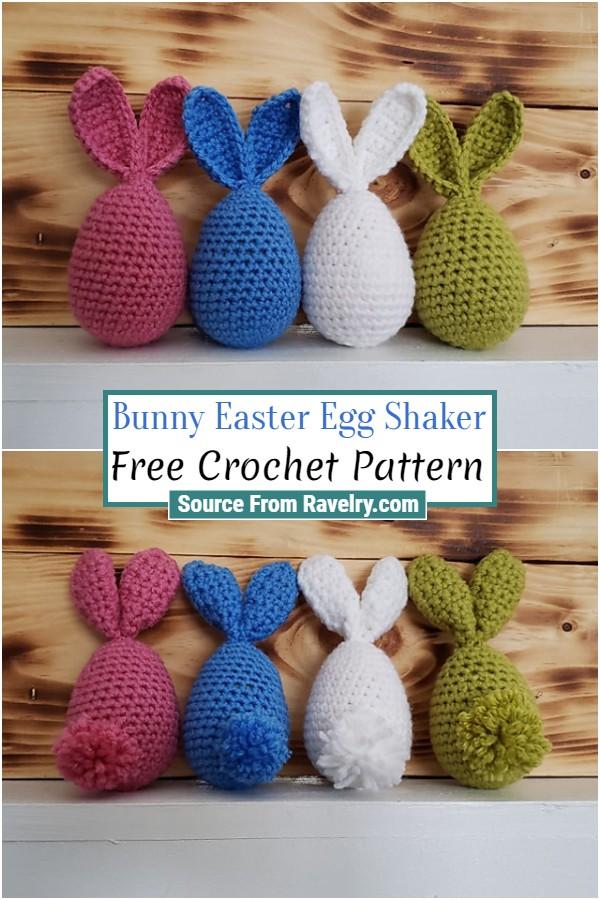 Free Crochet Bunny Easter Egg Shaker