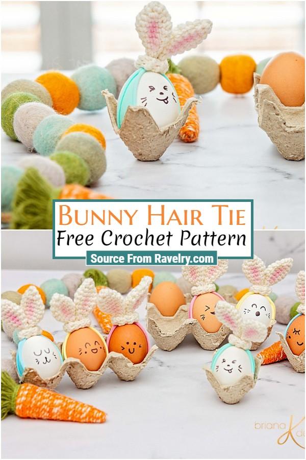 Free Crochet Bunny Hair Tie