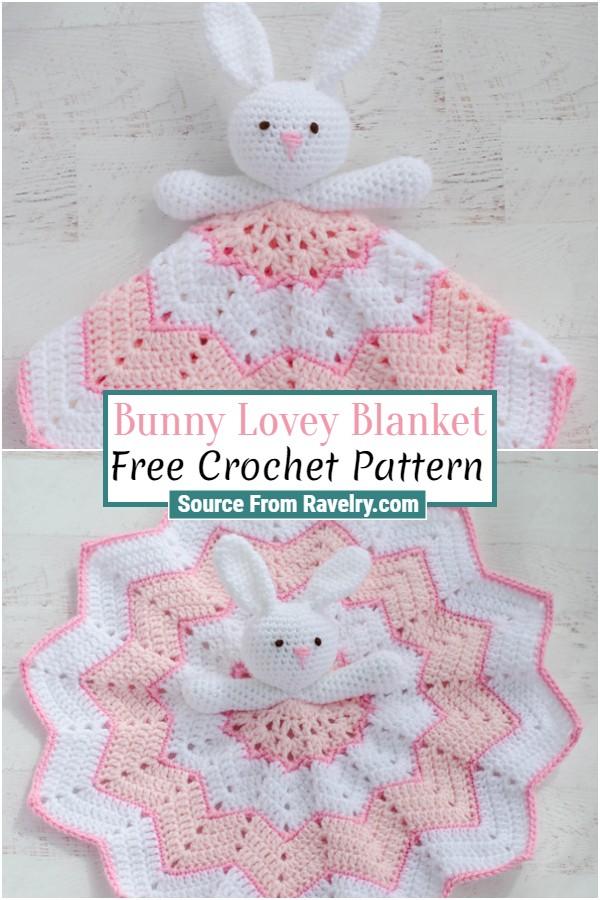 Free Crochet Bunny Lovey Blanket