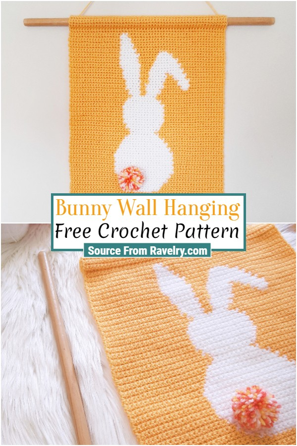 Free Crochet Bunny Wall Hanging
