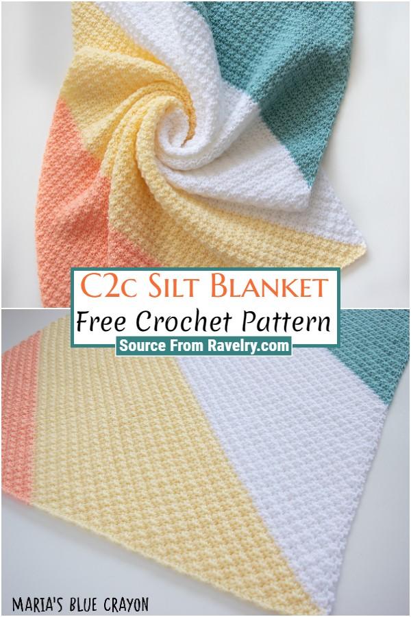 Free Crochet C2c Silt Blanket