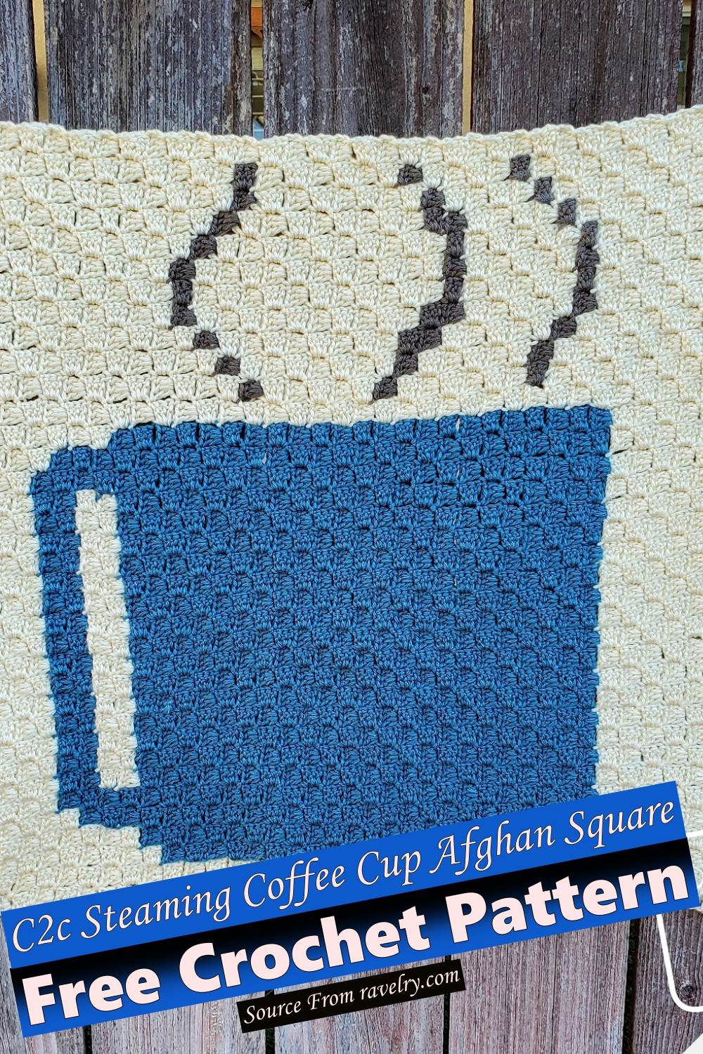 Free Crochet C2c Steaming Coffee Cup Afghan Square Pattern