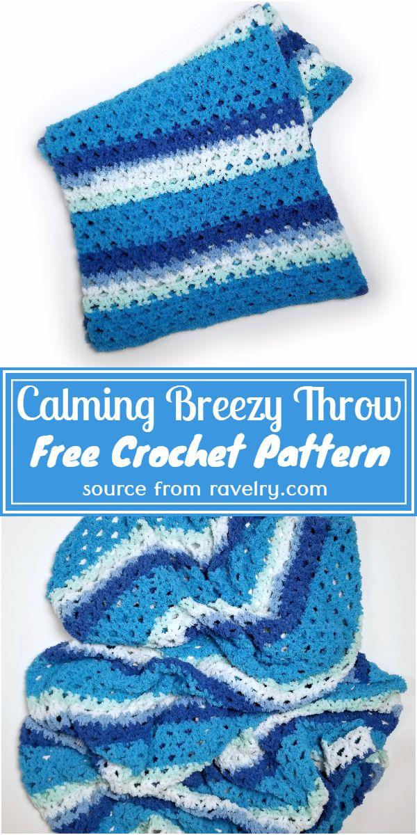 Free Crochet Calming Breezy Throw Pattern