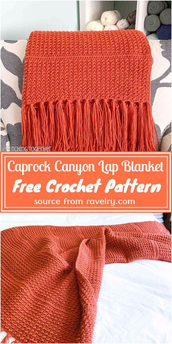 Free Crochet Caprock Canyon Lap Blanket Pattern