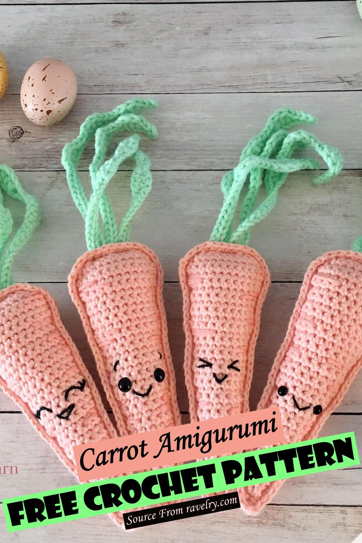 Free Crochet Carrot Amigurumi Pattern