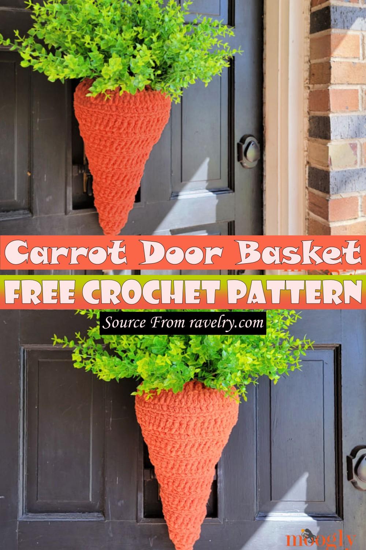 Free Crochet Carrot Door Basket Pattern