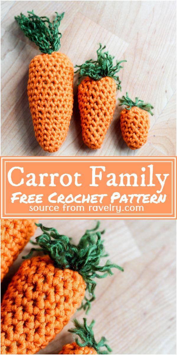 Free Crochet Carrot Family Pattern