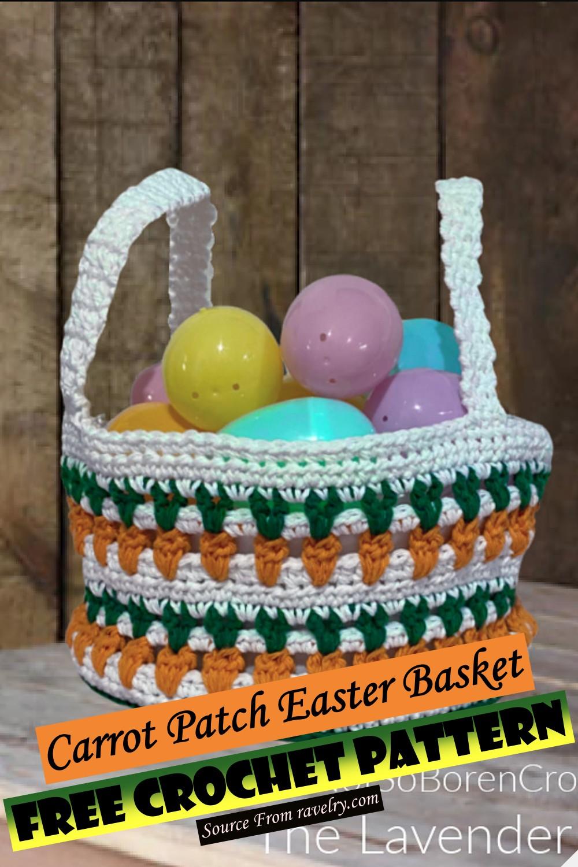 Free Crochet Carrot Patch Easter Basket Pattern