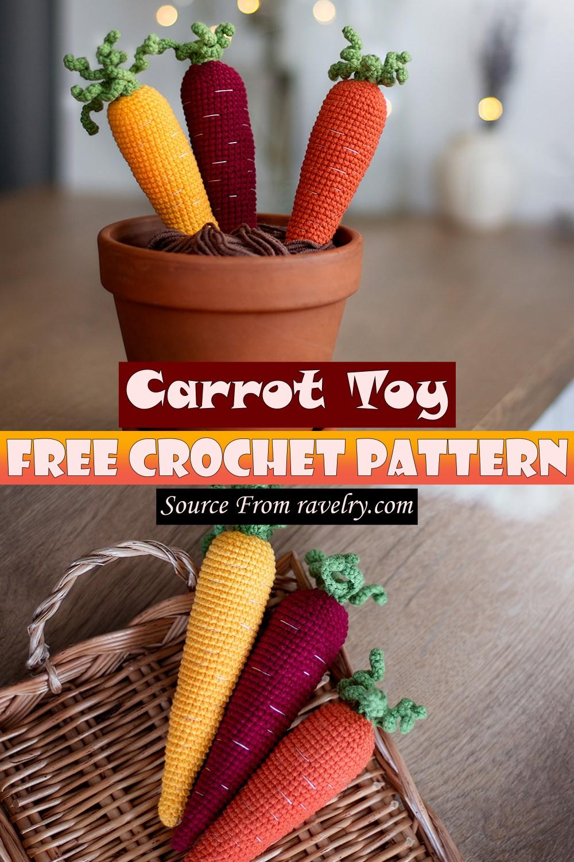 Free Crochet Carrot Toy Pattern