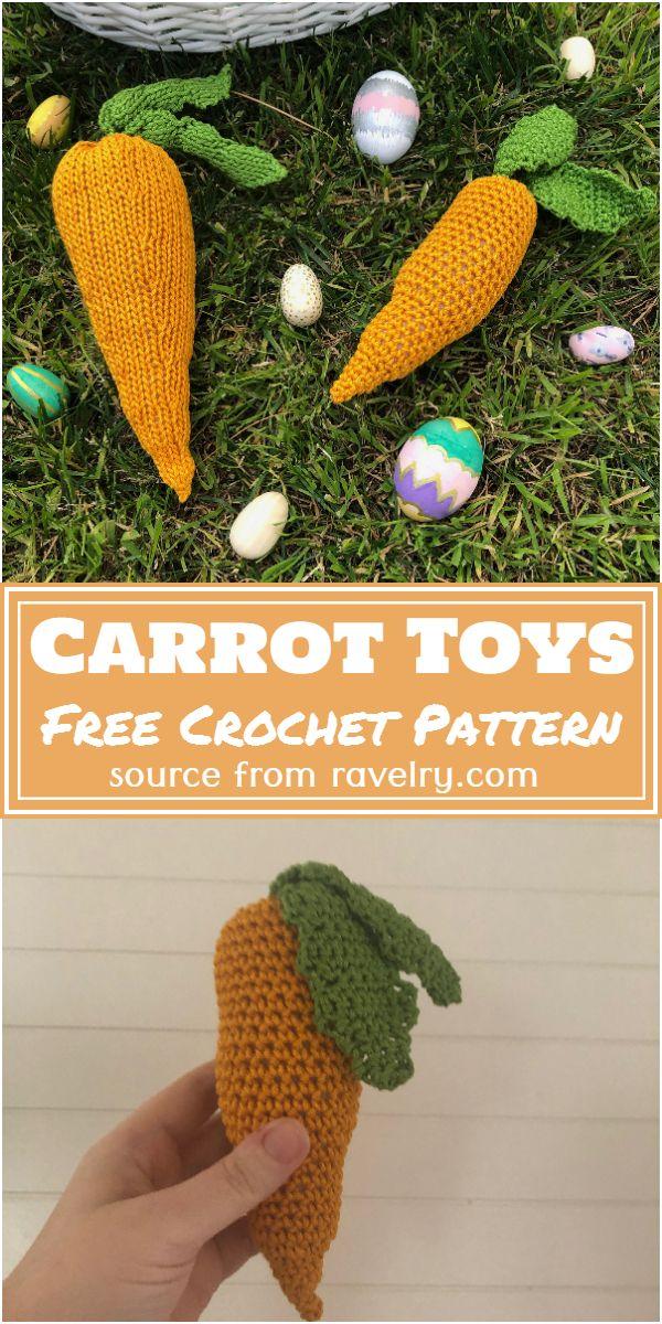 Free Crochet Carrot Toys Pattern