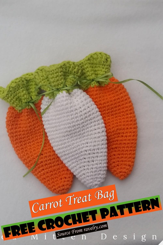 Free Crochet Carrot Treat Bag Pattern