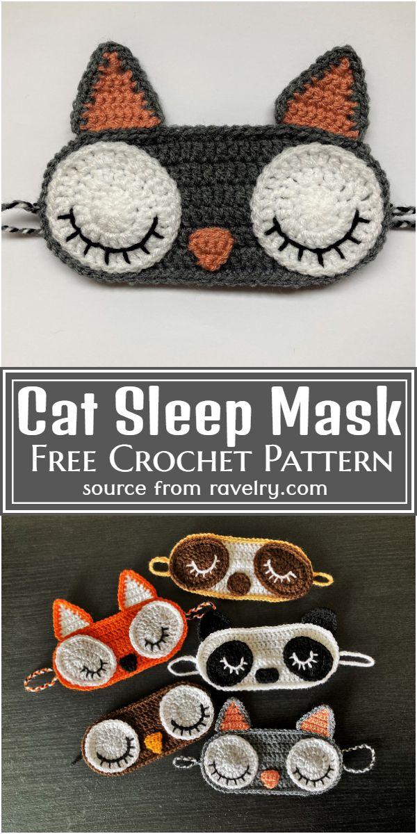 Free Crochet Cat Sleep Mask Pattern