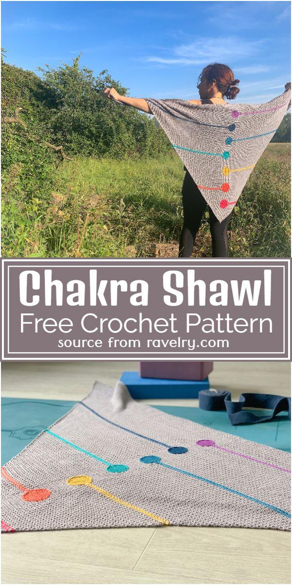 Free Crochet Chakra Shawl Pattern