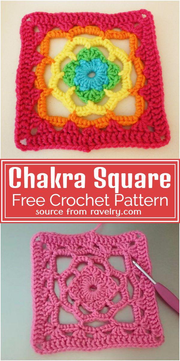 Free Crochet Chakra Square Pattern