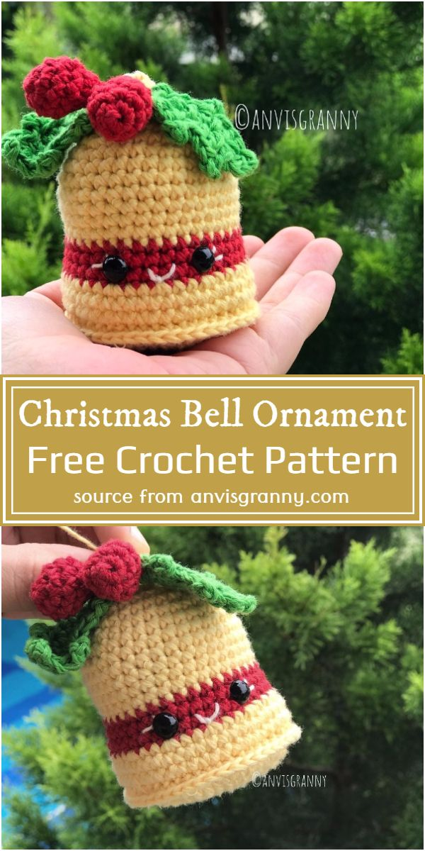 Free Crochet Christmas Bell Ornament Pattern