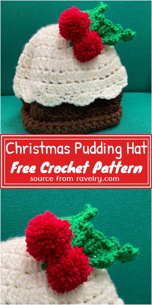 Free Crochet Christmas Pudding Hat Pattern