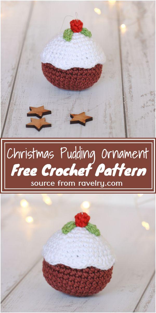 Free Crochet Christmas Pudding Ornament Pattern