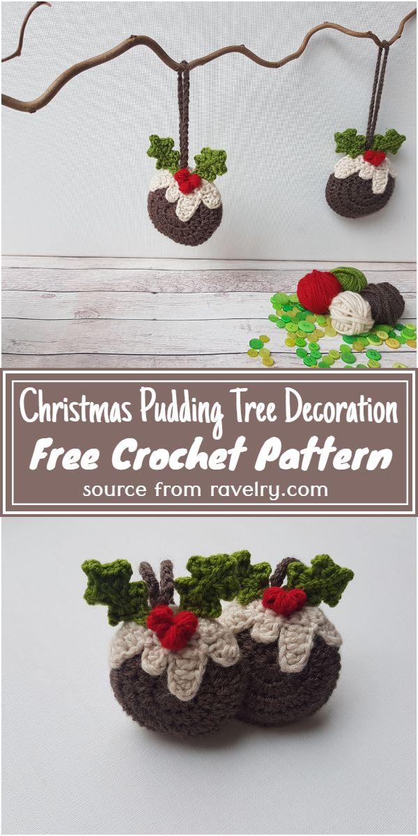Free Crochet Christmas Pudding Tree Decoration Pattern