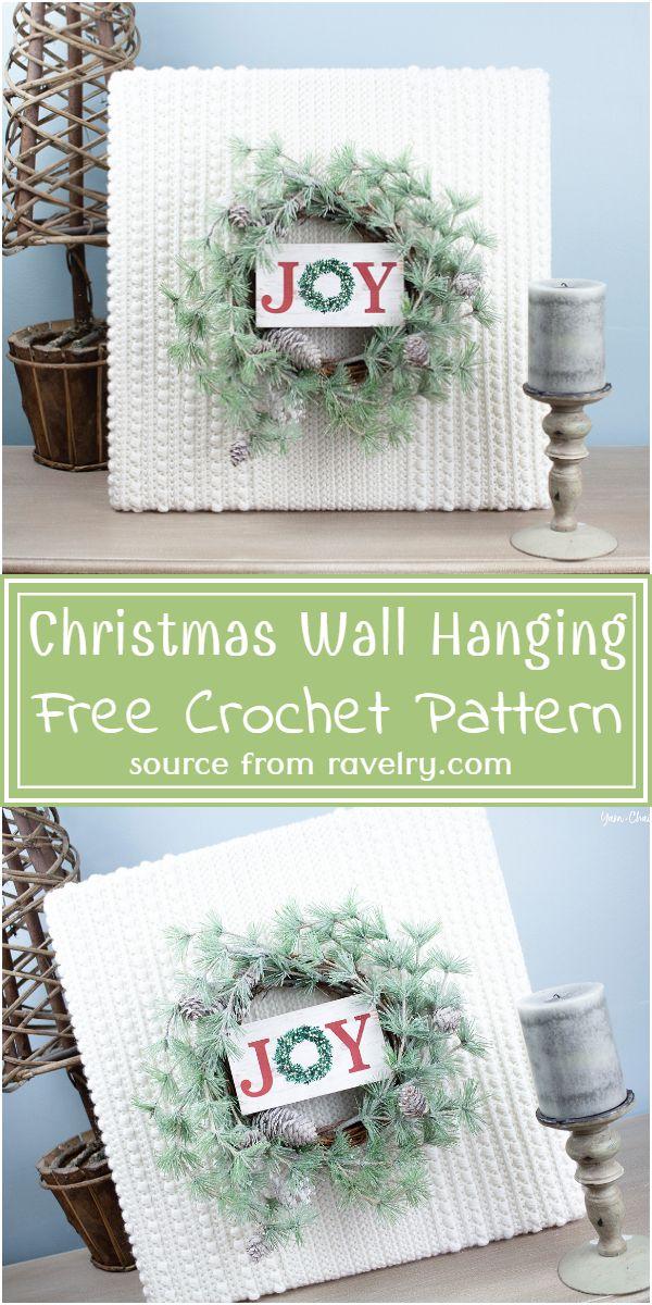 Free Crochet Christmas Wall Hanging Pattern