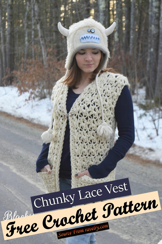 Free Crochet Chunky Lace Vest Pattern
