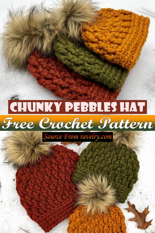 Free Crochet Chunky Pebbles Hat Pattern