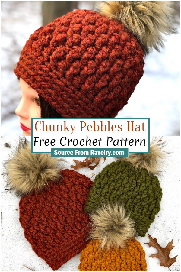 Free Crochet Chunky Pebbles Hat