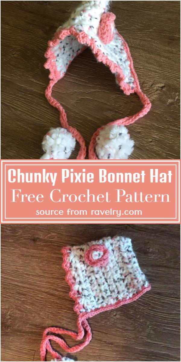 Free Pixie Bonnet Hat Pattern