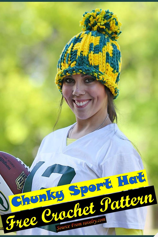 Free Crochet Chunky Sport Hat Pattern