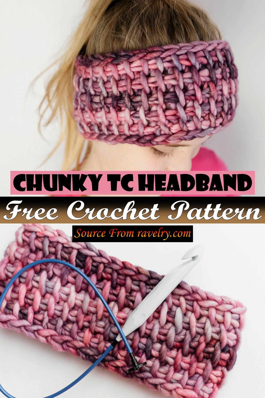 Free Crochet Chunky Tc Headband Pattern