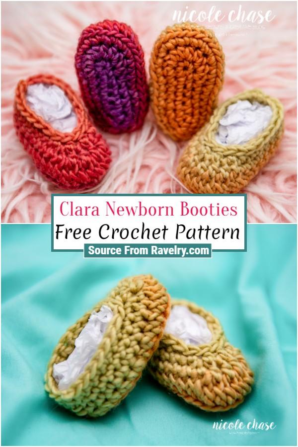 Free Crochet Clara Newborn Booties