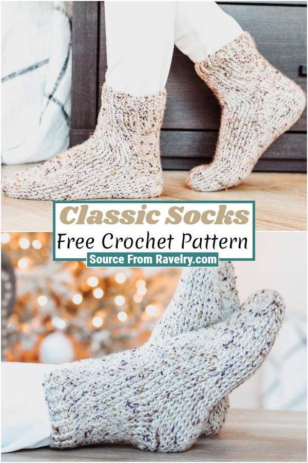 Free Crochet Classic Socks