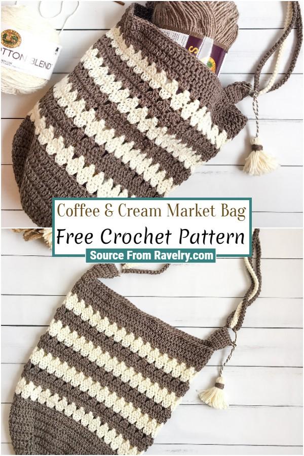 Free Crochet Coffee & Cream Market Bag