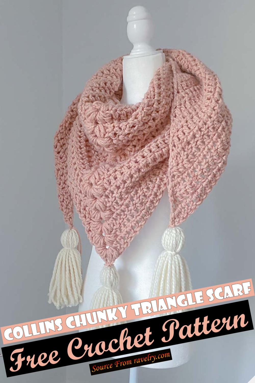 Free Crochet Collins Chunky Triangle Scarf Pattern