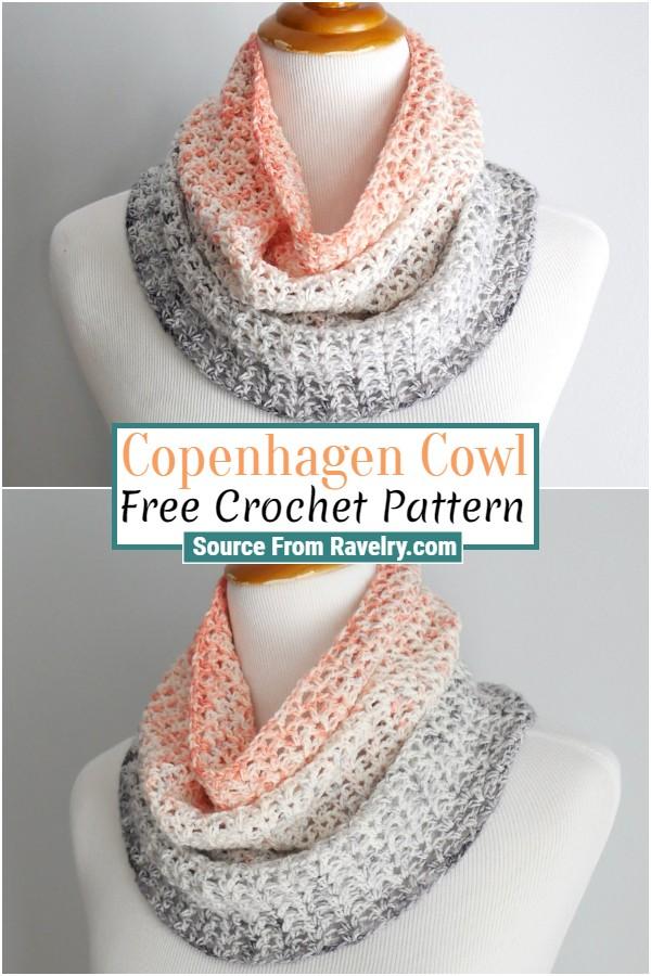 Free Crochet Copenhagen Cowl