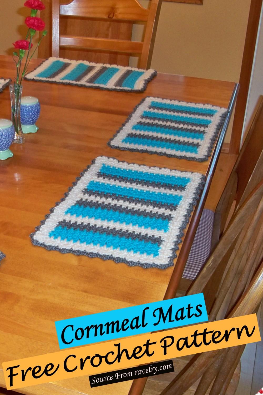 Free Crochet Cornmeal Mats Pattern