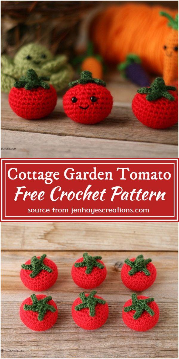 Free Crochet Cottage Garden Tomato Pattern