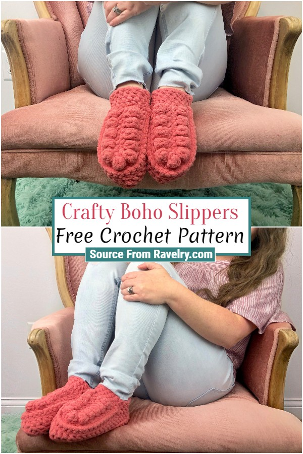 Free Crochet Crafty Boho Slippers