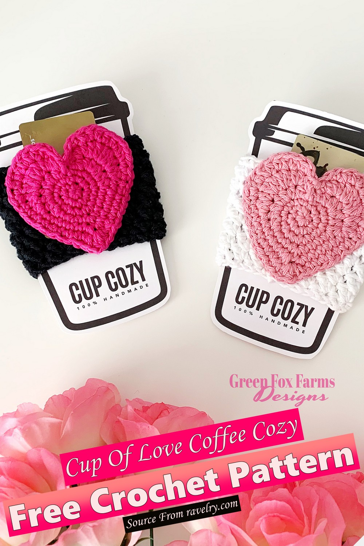 Free Crochet Cup Of Love Coffee Cozy Pattern