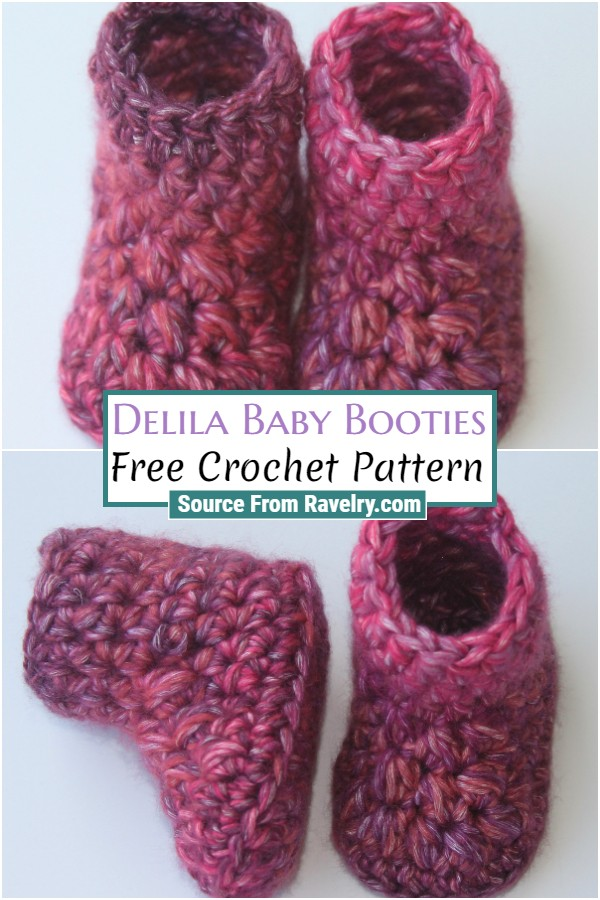 Free Crochet Delila Baby Booties