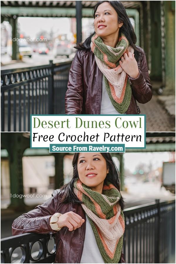 Free Crochet Desert Dunes Cowl