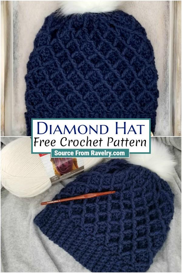 Free Crochet Diamond Hat