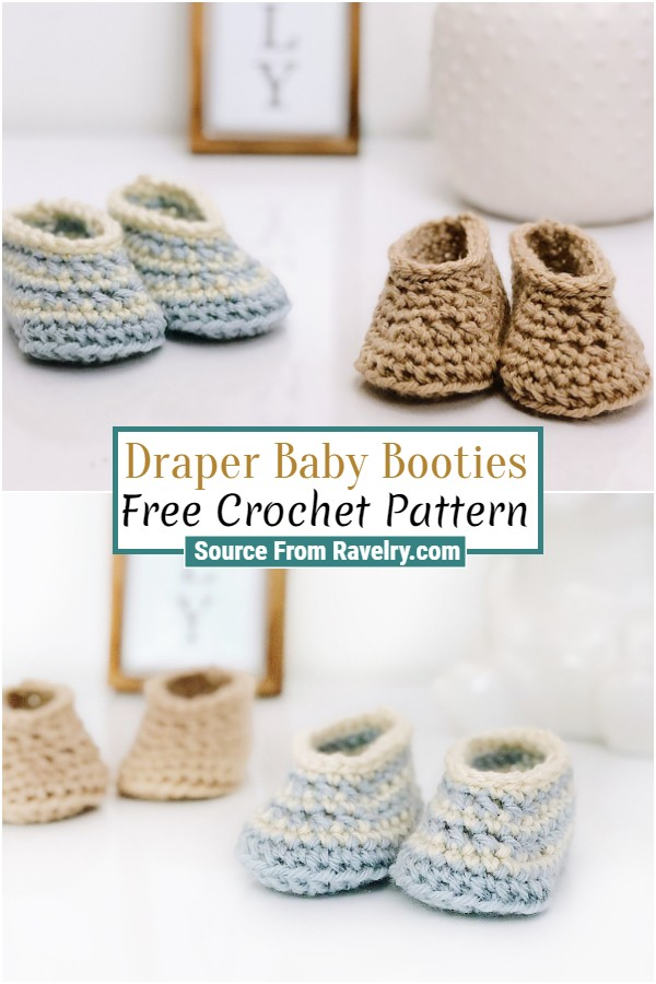 Free Crochet Draper Baby Booties