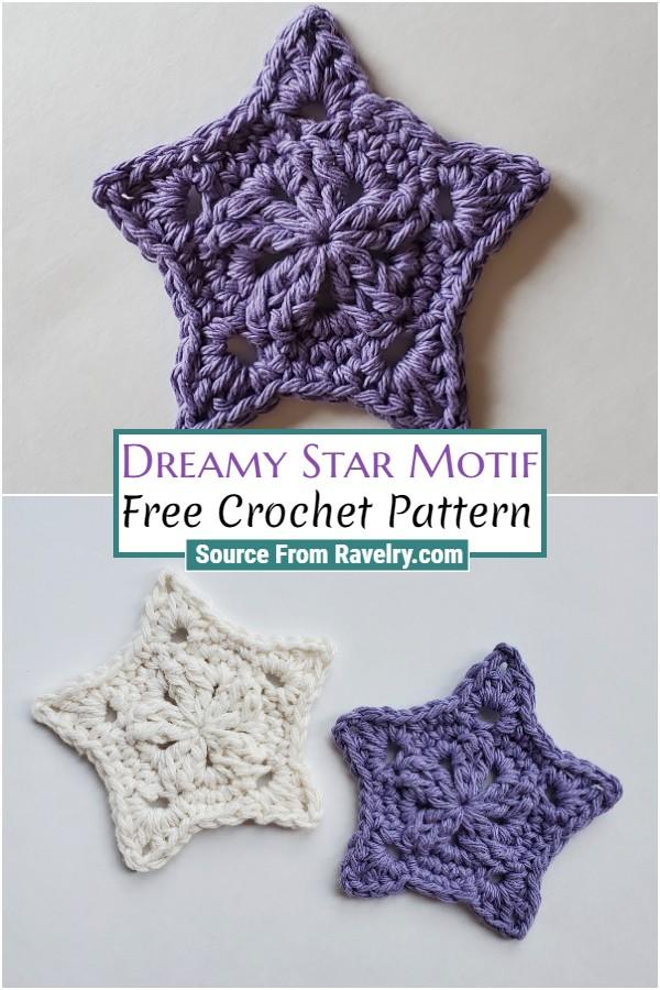 Free Crochet Dreamy Star Motif