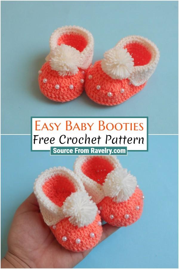 Free Crochet Easy Baby Booties
