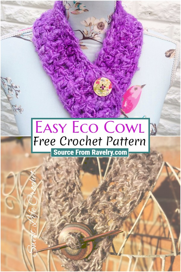 Free Crochet Easy Eco Cowl