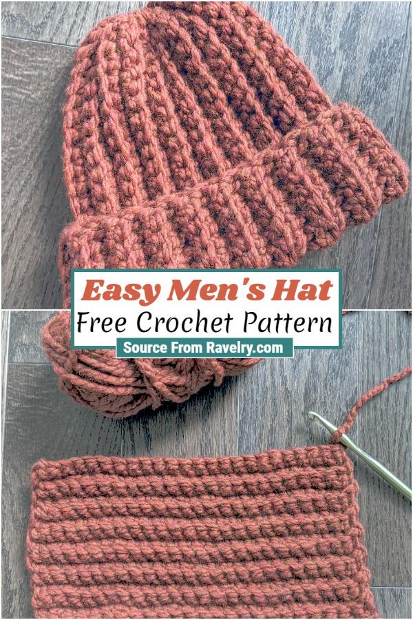Free Crochet Easy Men's Hat